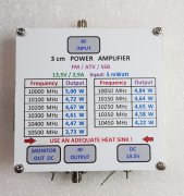 5 mW - 5 Watt 10GHz Power Amplifier ATV 3cm